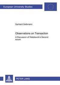 Observations on Transaction