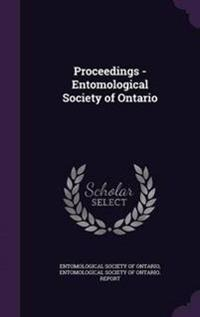 Proceedings - Entomological Society of Ontario