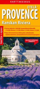 Etelä-Provece ja Ranskan Riviera kartta + opas, 1:300 000/1:15 000