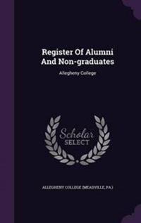 Register of Alumni and Non-Graduates