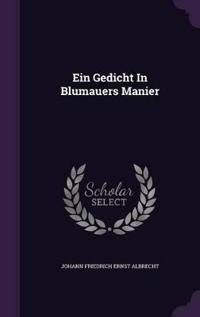Ein Gedicht in Blumauers Manier