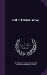 List of French Fiction