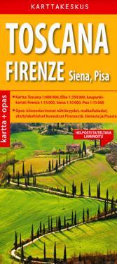 Toscana ja Firenze kartta + opas, 1:600 000/1:350 000/1:15 000/1: 15 000