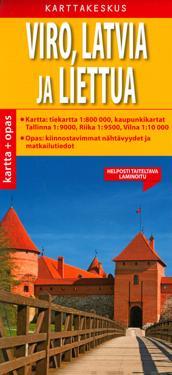 Viro, Latvia ja Liettua tiekartta + opas, 1:800 000