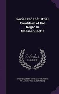 Social and Industrial Condition of the Negro in Massachusetts