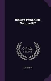 Biology Pamphlets; Volume 977