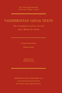 Tadzhikistan Legal Texts, the Foundations of Civic Accord and a Market Economy