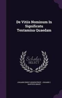de Vitiis Nominum in Significatu Tentamina Quaedam