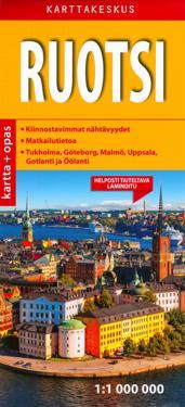 Ruotsi tiekartta + opas, 1:1 000 000