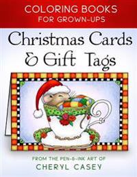 Christmas Cards & Gift Tags: Coloring Books for Grownups, Adults