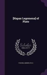 [Hapax Legomena] of Plato
