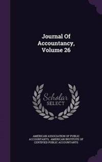 Journal of Accountancy, Volume 26