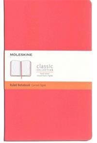 Moleskine Classic Notebook, Large, Ruled, Geranium Red, Hard Cover