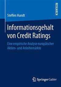 Informationsgehalt Von Credit Ratings