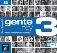 Gente hoy 3 (B2). Manual digital USB (incl. Libro del profesor)