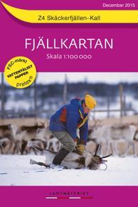 Z4 Skäckerfjällen-Kall Fjällkartan : 1:100000