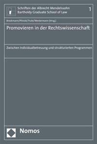 Promovieren in Der Rechtswissenschaft: Zwischen Individualbetreuung Und Strukturierten Programmen