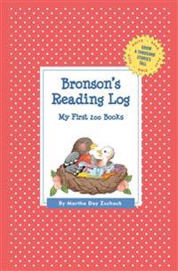 Bronson's Reading Log - Martha Day Zschock - pocket (9781516214983)     Bokhandel
