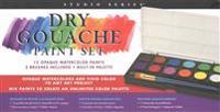 Studio Series Dry Gouache Paint Set (12 Opaque Watercolor Paints)