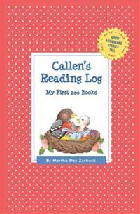 Callen's Reading Log