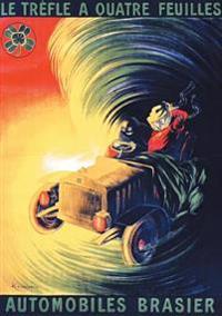 Carnet Ligne Affiche Automobiles Brasier