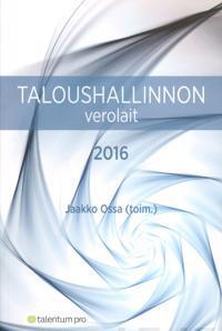 Taloushallinnon verolait 2016