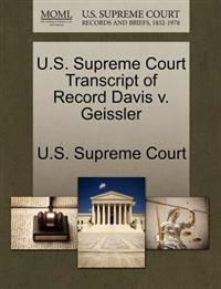 U.S. Supreme Court Transcript of Record Davis V. Geissler
