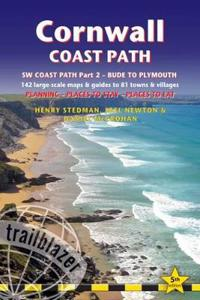 Cornwall Coast Path: (South-West Coast Path Part 2) Includes 142 Large-Scale Walking Maps & Guides to 81 Towns and Villages - Planning, Pla