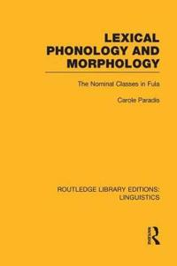 Lexical Phonology and Morphology