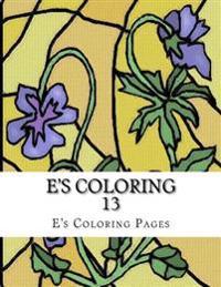 E's Coloring 13