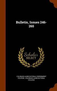 Bulletin, Issues 246-265