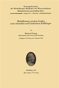 Modulformen Zweiten Grades zum Rationalen und Gaussschen Zahlkorper