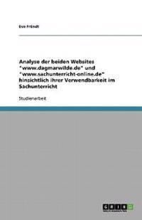 """Analyse der beiden Websites """"www.dagmarwilde.de"""" und """"www.sachunterricht-online.de"""" hinsichtlich ihrer Verwendbarkeit im Sachunterricht"""