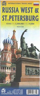 Topographische Karte Russia West