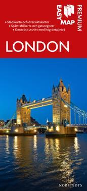 London Premium EasyMap stadskarta : 1:15000
