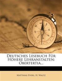 Deutsches Lesebuch für höhere Lehranstalten, Fünfter Band, Obertertia