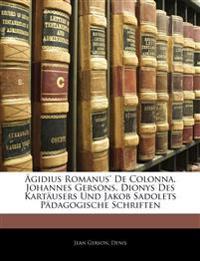 Bibliotek der katholischen Pädagogik, Fünfundzwanzigster Band