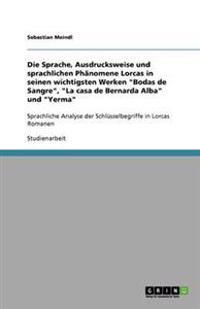 """Die Sprache, Ausdrucksweise und sprachlichen Phänomene Lorcas in seinen wichtigsten Werken """"Bodas de Sangre"""", """"La casa de Bernarda Alba"""" und """"Yerma"""""""