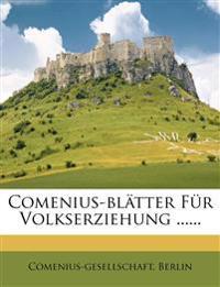Comenius-blätter Für Volkserziehung ......