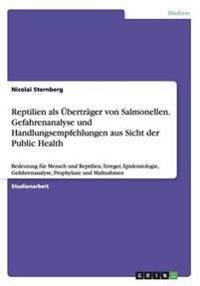 Reptilien ALS Ubertrager Von Salmonellen. Gefahrenanalyse Und Handlungsempfehlungen Aus Sicht Der Public Health