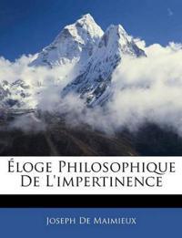 Éloge Philosophique De L'impertinence