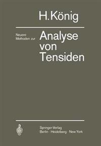 Neuere Methoden zur Analyse von Tensiden