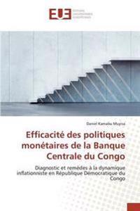 Efficacite Des Politiques Monetaires de la Banque Centrale Du Congo