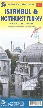 Istanbul City Map 1 : 11 000 / Northwest Turkey 1 : 550 000