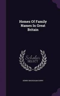 Homes of Family Names in Great Britain