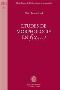 Itudes de Morphologie En F(x, ...)