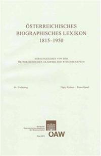 Osterreichisches Biographisches Lexikon 1815-1950, 66. Lieferung: Toply Robert - Tuma Karel