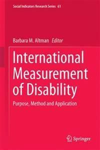 International Measurement of Disability