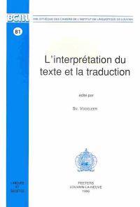 Linterpritation Du Texte Et La Traduction