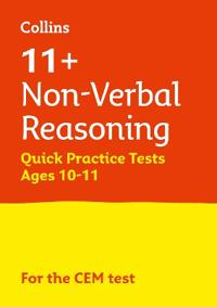 11+ non-verbal reasoning quick practice tests age 10-11 for the cem tests